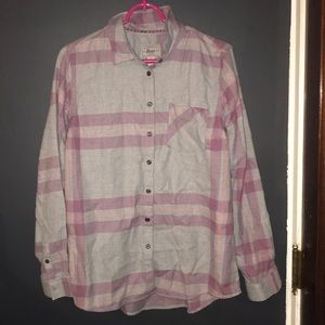 Purple and gray flannel